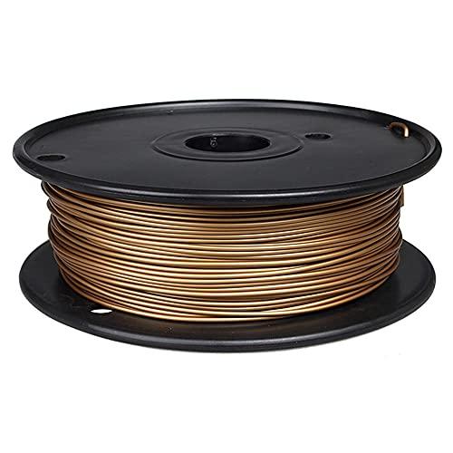 3D Printer Filament 1.75mm PLA Metal Material 0.5kg Spool 60% PLA+40% Metal Powder-Brass