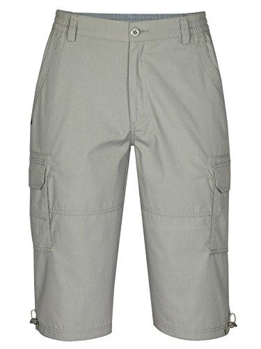 MIAN-MODE Herren Cargo Shorts, Kurze Hose Baumwoll-Mix-Beige-XL
