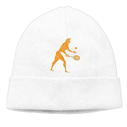 SDLZIJFGHBC Momens Ancient Olympian Playing Tennis Funny Sports Funny Travel Black Beanies Watch Cap
