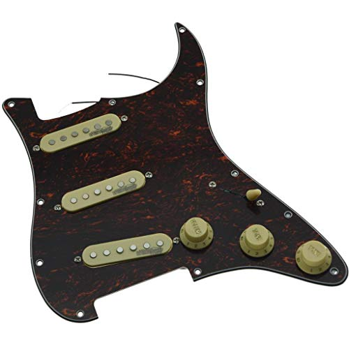 KAISH Golpeador de guitarra eléctrica cargada con tortuga, color rojo con pastillas...