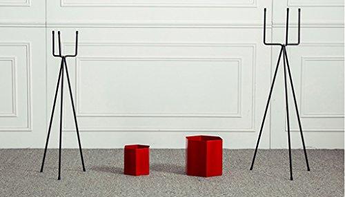 DFHHG® Porte-fleurs, fer Nordic Simple Balcon intérieur Balcon Polygon Floor Style Triangle Étagère à fleurs Porte-pot à fleurs Ensemble complet Support de fleur américain ( Couleur : Rouge )