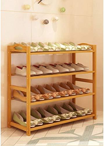 Gabinete de zapatos a prueba de polvo 4/5/6 Rack de zapatos laminado con reposabrazos, longitud 80 cm de almacenamiento de bambú, soporte de zapato de alto apilamiento moderno 80 * 25 * 68/87/106 cm