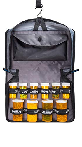 Med Manager Mini Medicine Organizer and Pill Case, Holds (10) Pill Bottles - (6) Standard Size and (4) Large Bottles, Purple, 12 inches x 6 inches x 3 inches