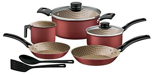 Tramontina Batería de Cocina Turim, Rojo
