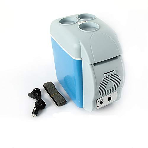 HBLWX Mini-Kühlschrank 7.5L, elektronisches heißes kaltes Auto Kühlschrank Geeignet für Getränke Obst Arzneimittel Kosmetik Aufbewahrungsthermostat