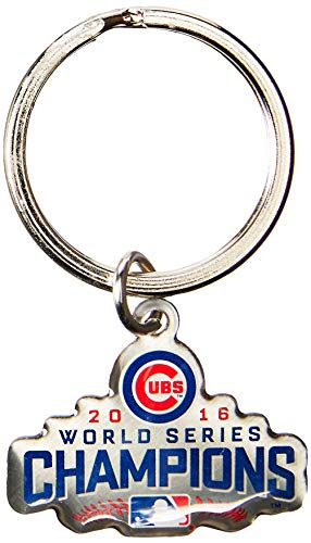 FOCO MLB Chicago Cubs (2016 Edition) World Series Champions Metal Logo Keychain, Blue
