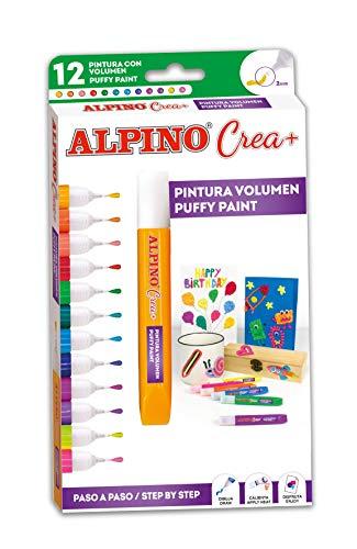 Lapiz 3D Alpino Crea+ - Pintura 3D Efecto Cristal con 12 Colores...