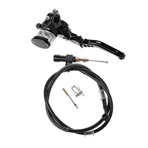 CHENWEI- 7/8' 22 Millimetri Motorcycle CNC idraulica Kit Frizione Leva Cilindro Maestro Che Lavora a Maglia Oil Hose 125~250 CC Moto Freni Accessori (Color : Black)