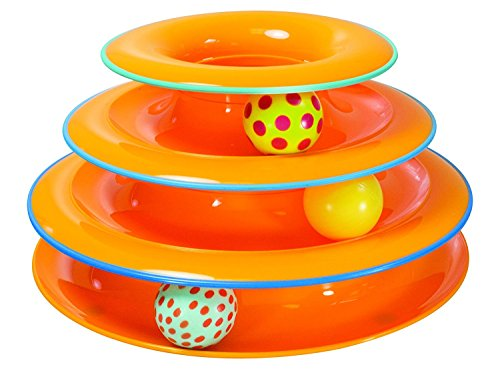 Petstages Tower of Tracks Ball and Track Interactive Toy for Cats, Fun Cat Game