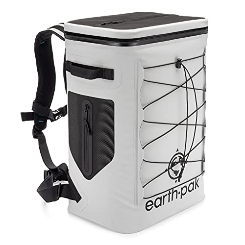 Insulated Backpack Cooler Holds 35 Cans for 72 Hours - Perfect Lunch or Drink Bag for Camping, Hiking, Fishing, Kayaking, Sports, or The Beach - 100% Waterproof Heavy Duty Construction by Earth Pak