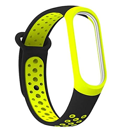 Correa de repuesto para Xiaomi Mi Smart Band 3/4 Blue/Black (Black/Green)