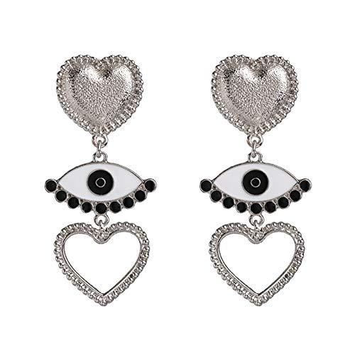 GUOZHENG Boho Augentropfen Ohrringe Frauen HochzeitSweet Love Heart Party Ohrringe Metall Statement Mädchen Geschenk Schmuck