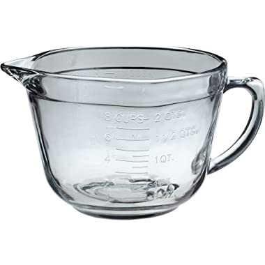 Anchor Hocking 8 Cup Measuring Cup Glass Batter Bowl with Spout