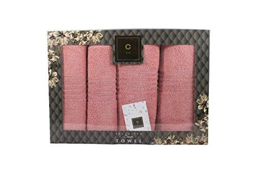 Cavar Home - Set de 4 Premium - Toalla de manos con set de regalo - 2 x Toalla de ducha (70 x 140 cm) + 2 x Toalla de manos (50 x 100 cm) - 100% de algodón