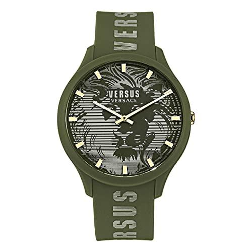 Versus Versace Domus Gent - Reloj de pulsera para hombre, 44 mm, color verde