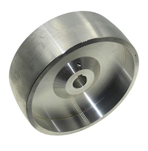 (Drive 158 – 19) Rueda de transmisión de correa mecanizada CNC para afilador de cuchillos, 158 mm de diámetro, 55 mm de ancho con orificio de 19 mm