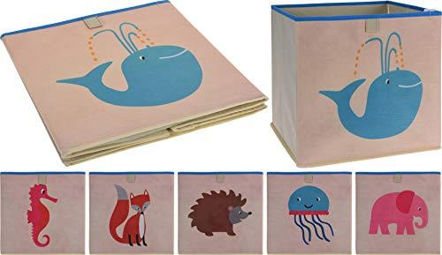 PhiLuMo Opbergmand voor speelgoed, kist voor speelgoed, bouwstenen, etc, mand 32 x 32 x 30 cm, verschillende motieven