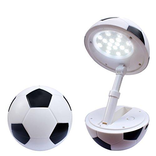Lampada da tavolo a LED per bambini e bebè, a forma di pallone da calcio, dimmerabile, cavo USB, luce notturna, lampada da lettura. nero