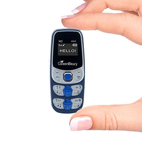 GreenBerry M2 Mini World Smallest Mobile Cellphone (Blue)