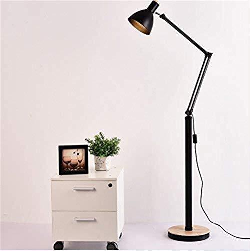 YHtech Conducido personalidad creativa moderna Rocker Sala de estar Mesa de dormitorio cama de madera Lámpara de pie, Eye-Cuidado Vertical luz del piso