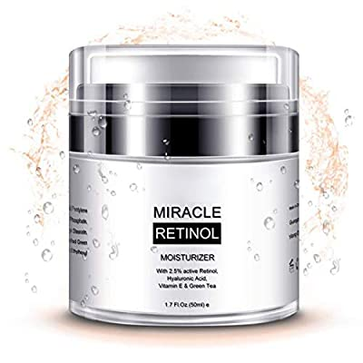 Retinol Moisturizer Cream for Face and Eye Area - With Retinol, Jojoba Oil, Vitamin E,Best Day and Night Anti Wrinkle Cream for Men and Women 50g