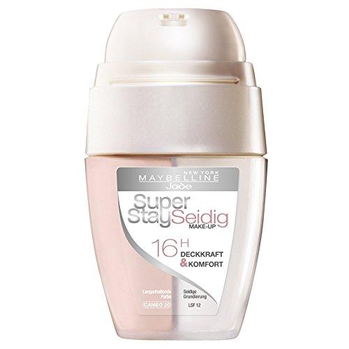 Maybelline New York Superstay Seidig Make-Up Cameo 20/ Schminke in einem Hautfarbe-Ton mit Zwei-Kammern-Technologie, für eine langanhaltende und perfekte Abdeckung, 1 x 30 ml