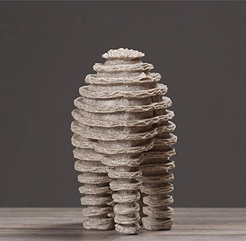 UJHNM Estatuas para Decoración del Hogarresina De Elefante Abstracto Y Gres, Estatuas De Animales Fósiles De La Edad De Hielo