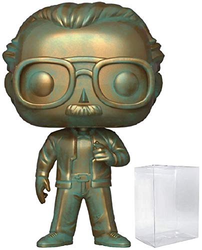 Marvel Funko Pop Stan Lee (Patina) Funko Pop! Icons Vinyl Figure (Includes Compatible Pop Box Protector Case)