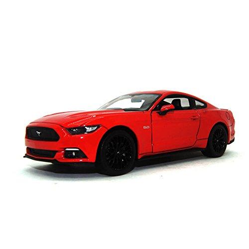 Ford Mustang GT, rot 2015 Maßstab 1:24 - Metall / Kunststoff - Fertigmodell Welly