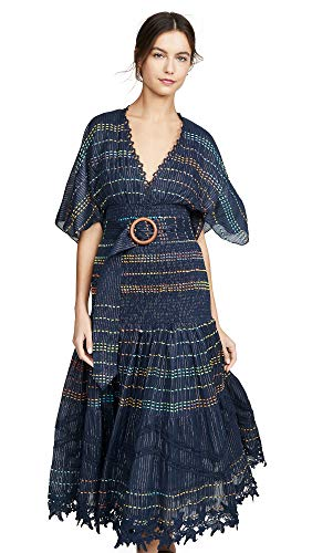 Hemant and Nandita Women's Long Dress, Blue, X-Large