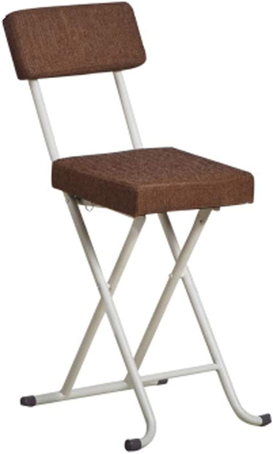 Barstool Nordic Wrought Iron Folding Chair Home Back Simple Portable White Black 35  34  75cm (color   Brown)