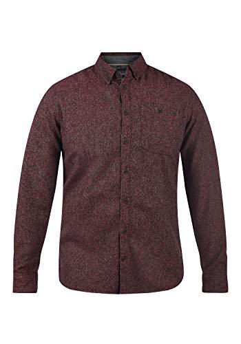 Blend Herren Freizeithemd Hemd 20710340, Größe:L, Farbe:Madder Red (73862)