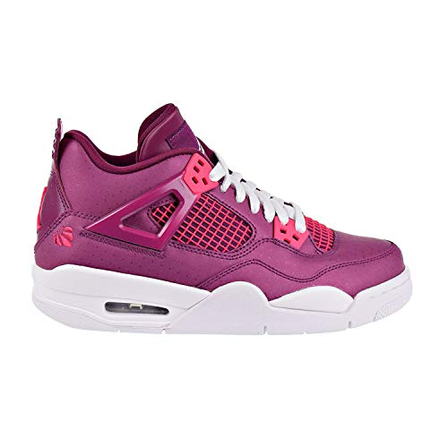 Price comparison product image Air Jordan 4 Retro Big Kids Shoes True Berry / Rush Pink / White 487724-661 (6 M US)