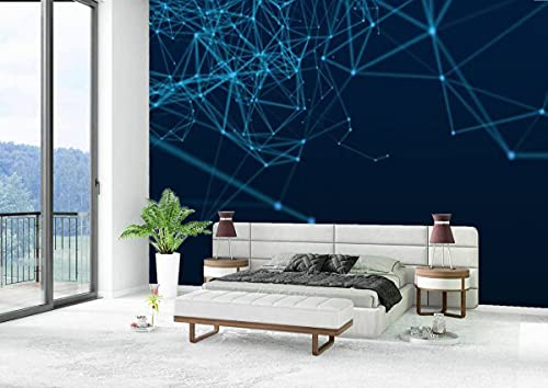 Canvas Wallpaper Self-Adhesive Removable Wall Painting Poster Sticker Craft Wall Sticker Abstract Blue Backgrounds Home Decoration Bedroom Living Room