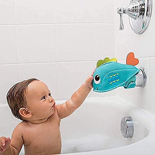 Cubierta del grifo de la bañera para la seguridad del bebé y los niños, la cubierta protectora de la boca del grifo del agua de la historieta, el protector del grifo del material de buceo, conveniente