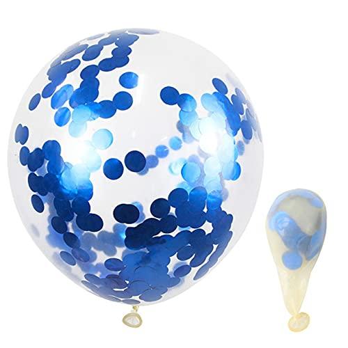 Globos 10 Piezas 12 Pulgadas Confeti Dorado Globos De Látex Fiesta De Cumpleaños Boda Navidad Decoración del Hogar Baby Shower Bolas De Aire Metálicas Globos Azules