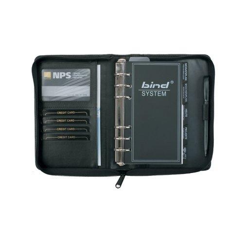 bind - 10100 - Systemplaner A6 inkl. Kalender 1 Woche = 2 Seiten, Leder, schwarz