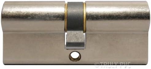 10 a/ños de garant/ía tiene 30,000 clave combinaciones y probado hasta 100,000 clave vueltas Disponible en lat/ón pulido o chapado en n/íquel Yale l/íde cilindro Euro est/ándar A 6 pin cilindro Yale Resiste picking
