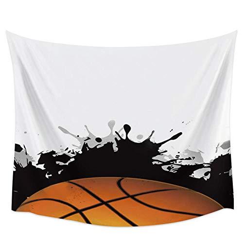 WAXB Tapiz De Diseño De Arte De Baloncesto para Colgar En La Pared Tapices De Alfombra para Habitaciones Accesorios Artísticos para Decoración del Hogar