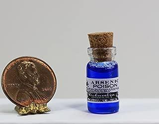 Dollhouse Miniature Glass Bottle of Vintage Purple Faux Arsenic Poison