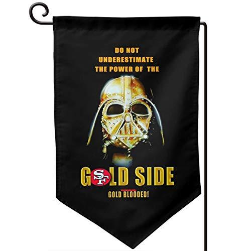 """Die Hard """"49er Fan"""" Alljahres-Flagge, Gartenbanner Schneeschutz, UV-Schutz, doppelseitiger Druck, Rasenfläche, Außendekoration"""
