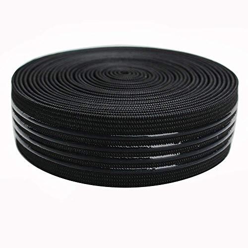Elastic Band Silicone Backed Gripper Elastic Webbing Non-Slip Elastic Ribbon - 5 Yards per roll (30mm(FBA))