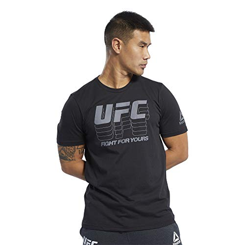 Reebok UFC Male Fan Gear Logo Tee, Black,