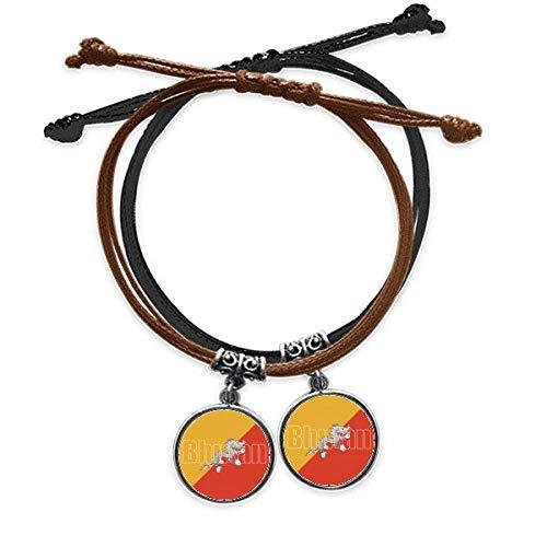 DIYthinker - Pulsera de doble cuerda, diseño de bandera de Bután