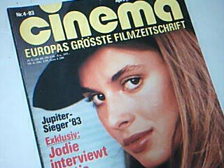 Cinema 1983 Nr. 4 (Heft 58) , Nastassja Kinski Cover, Zeitschrift