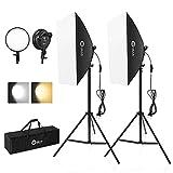 OMBAR Softbox Fotografía Kit para Estudio Fotográfico 45W...