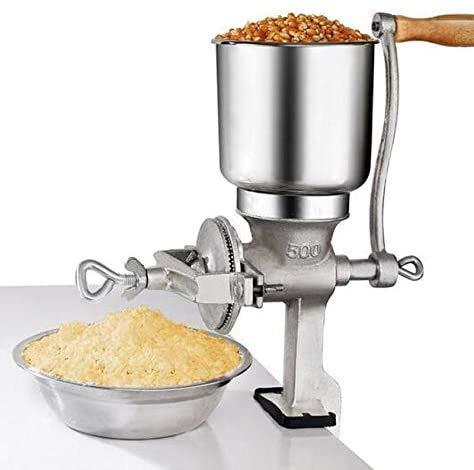 KCHEX Tall Cast Manual Iron Mill Grinder Hand Crank Grains Oats Corn Wheat Coffee Nuts
