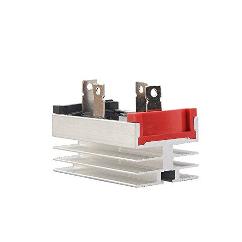 BestTong 50A 1000V Single Phase Aluminum Heatsink Diode Bridge Rectifier QL50A