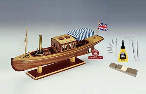 Outletdelocio Constructo 80834. Maqueta de Barco en Madera. Barca de Vapor Louise. Escala 1/26 + Herramientas 19304/57395