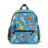 Pescados Azules-Set Mochila para Preescolar Niñas Niños Toddler Kids Estudiante Mochilas para Infantiles 1-6 Años